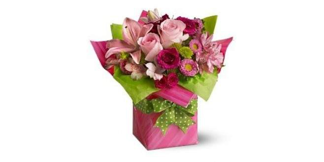 Pink Roses Flowers Box-Friendship Day Special