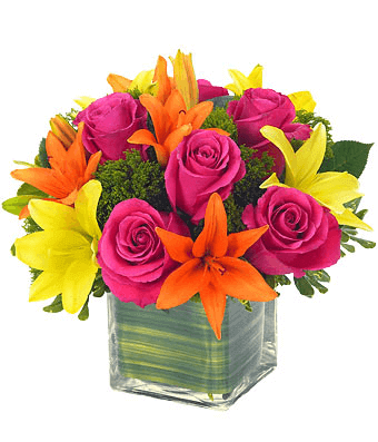 Mix Roses and Lilies Flower Arrangements