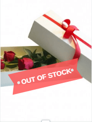 Valentine's 3 Red Rose in a Box - Valentine's Special