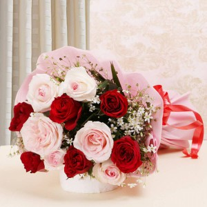 Red & Pink Roses Love