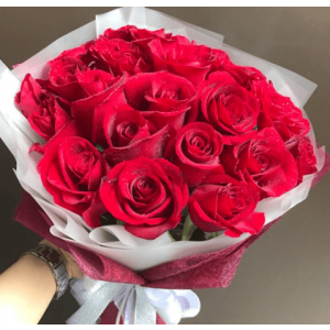 Valentine's 20 Red Rose Bouquet