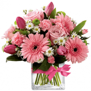 Carnival of Pink With Vase