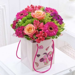 Gift Bag Flower Arrangements